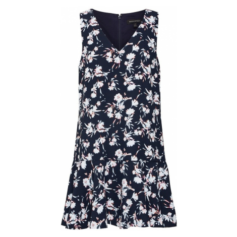 Banana Republic Sukienka 'SL V-NECK FLOUNCE PRINTED SHIFT DRESS' granatowy