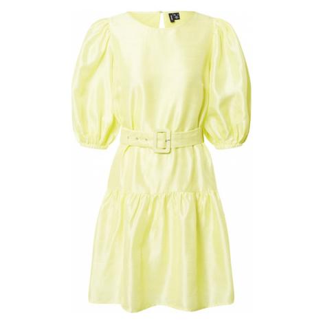 VERO MODA Sukienka cytrynowo-żółty