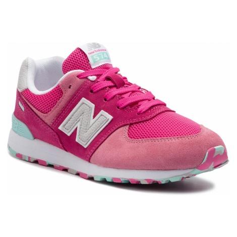 Sneakersy NEW BALANCE - GC574UJB Różowy
