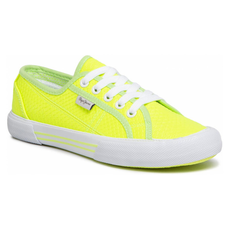 Tenisówki PEPE JEANS - Aberlady Fluor PLS30952 Neon Yellow 044