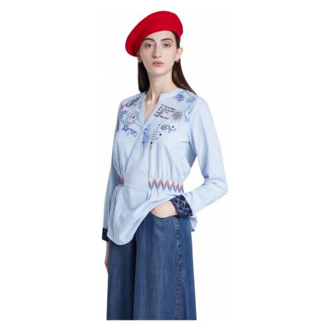 Desigual niebieska dopasowana koszula Blus Dante