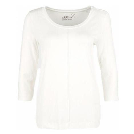 s.Oliver T-shirt damski kremowy