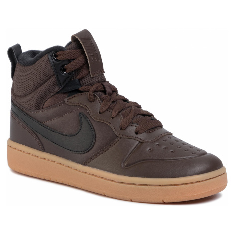Buty NIKE - Court Borough Mid 2 Boot (GS) BQ5440 200 Baroque Brown/Black