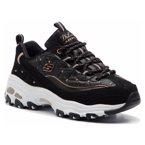 Sneakersy SKECHERS - D'lites Glamour Feels 13087/BKRG Black/Rose Gold
