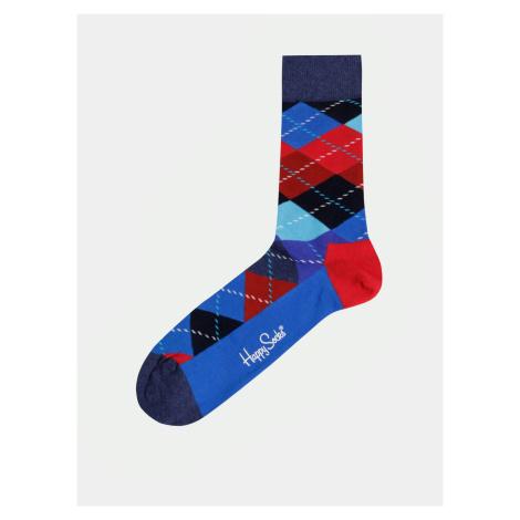 Skarpetki Happy Socks Argyle w czerwono-niebieskie wzory