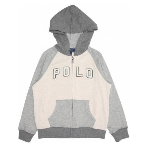 POLO RALPH LAUREN Bluza rozpinana beżowy / ciemnoszary / nakrapiany szary