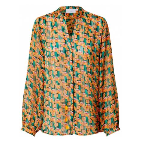 Fabienne Chapot Bluzka 'Frida Lou' khaki / pomarańczowy