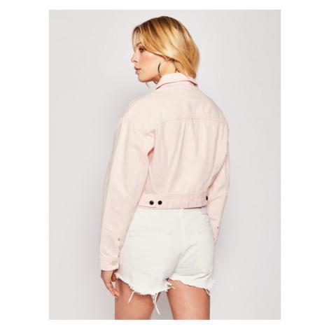 Lee Kurtka jeansowa Cropped L54QKGNA Różowy Regular Fit