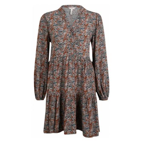 OBJECT (Petite) Sukienka koszulowa 'Klara' ciemnozielony / pomarańczowy / szary