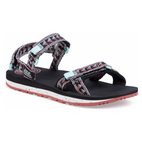 Sandały JACK WOLFSKIN - Outfresh Sandal W 4039461 Black/Aquamarine