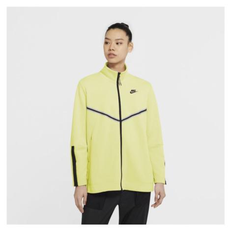 Damska bluza z kapturem i zamkiem na całej długości Nike Sportswear Tech Fleece Windrunner - Żół
