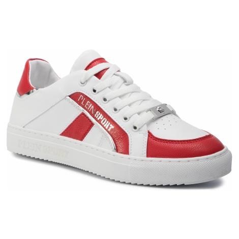 Sneakersy PLEIN SPORT - Lo Top Sneakers Cross F19S MSC2246 STE003N White/Red 0113