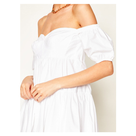 Pinko Sukienka letnia Ramon 20201 PBK2 1B14FF. 7977 Biały Regular Fit