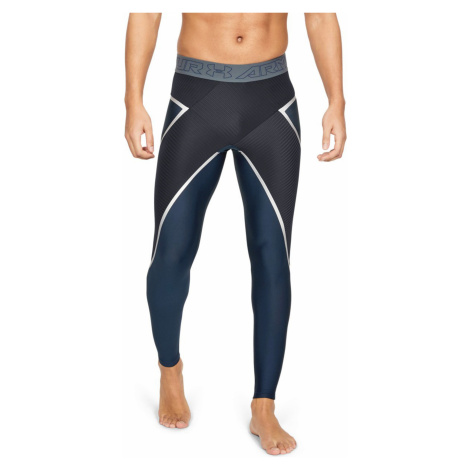 Under Armour Project Rock Core Legginsy Czarny Niebieski