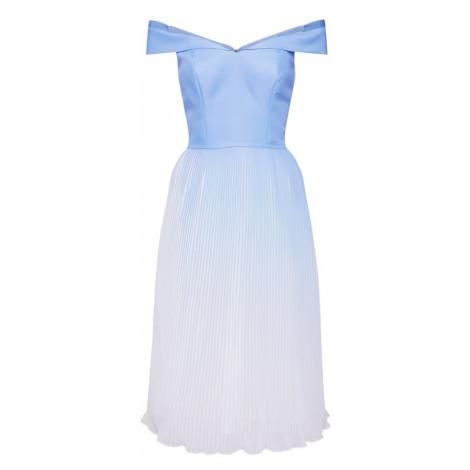 Chi Chi London Sukienka 'CHI CHI MARIAME' jasnoniebieski / biały