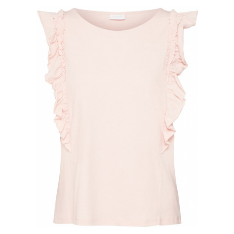 VILA Koszulka 'VILANNA' różowy pudrowy