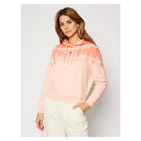 Tommy Jeans Bluza Summer Tie Dye DW0DW08550 Pomarańczowy Relaxed Fit