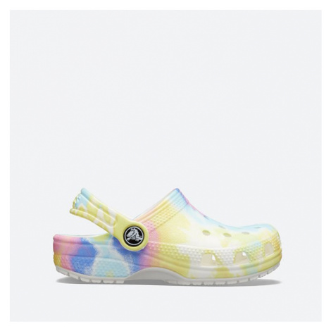 Klapki Crocs Classic Tie Dye Graphic Clog Kids 2205451 WHITE/MULTI