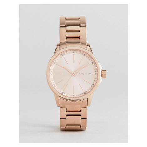 Armani Exchange AX4347 Bracelet Watch In Rose Gold