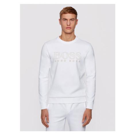 Boss Bluza Salbo Iconic 50448186 Biały Slim Fit Hugo Boss