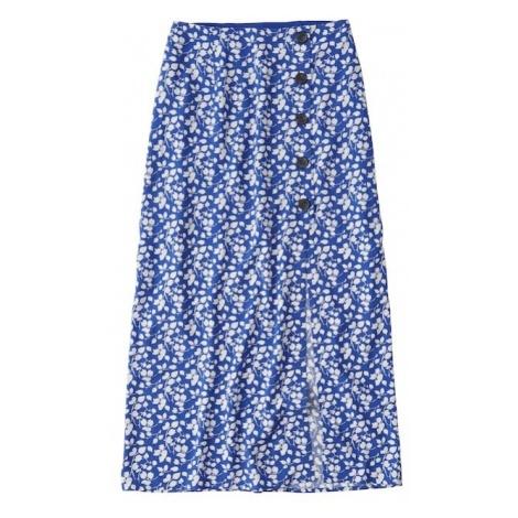 Abercrombie & Fitch Spódnica 'SB19-PRINTED WRAP MAXI' niebieski