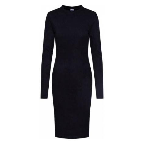Urban Classics Sukienka 'Ladies Peached Rib Dress LS' czarny