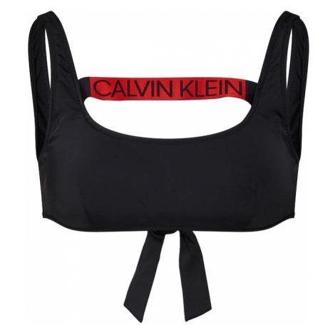 Calvin Klein Swimwear Góra bikini 'TIE BACK BRALETTE RP' czerwony / czarny