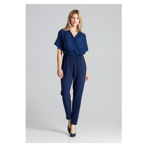 Figl Woman's Jumpsuit M684 Navy Blue