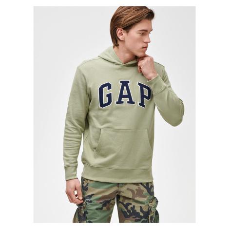 GAP zielona bluza męska Logo arch hoodie