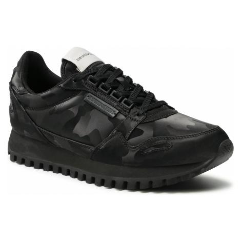 Sneakersy EMPORIO ARMANI - X4X536 XD222 K001 Black/Black