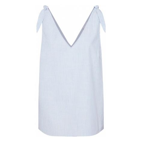 VILA Top 'Vigladys' jasnoniebieski / biały