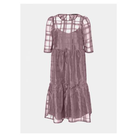 Fioletowa luźna sukienka VERO MODA Vava