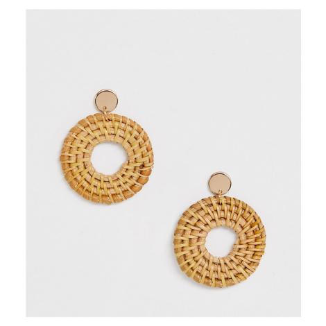 ALDO Belarith woven straw hoop earrings