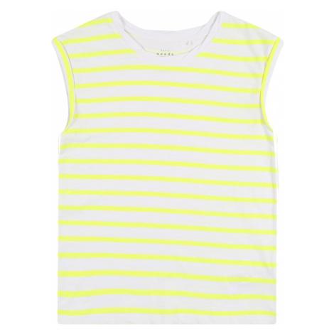 NAME IT Top szary / żółty