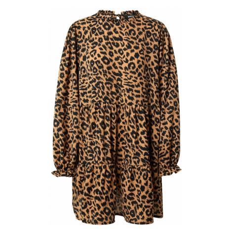 Missguided Sukienka koszulowa brązowy / czarny