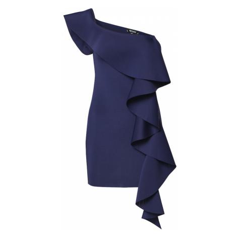 Missguided Sukienka 'SCUBA' ciemny niebieski