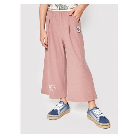 Femi Stories Spodnie materiałowe Darby Różowy Regular Fit