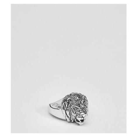 ASOS DESIGN sterling silver lion ring
