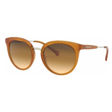 Emporio Armani Okulary przeciwsłoneczne 'EA4145 58352L' brązowy / pomarańczowy