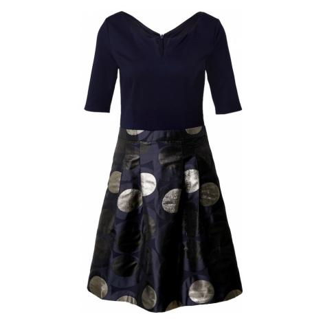 Esprit Collection Sukienka granatowy / srebrny / czarny