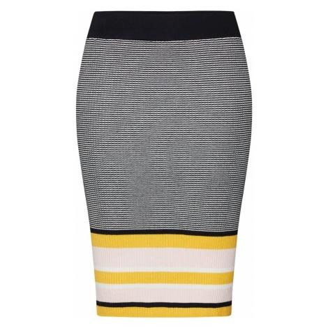 ONLY Spódnica 'SIGRID' żółty / czarny / biały