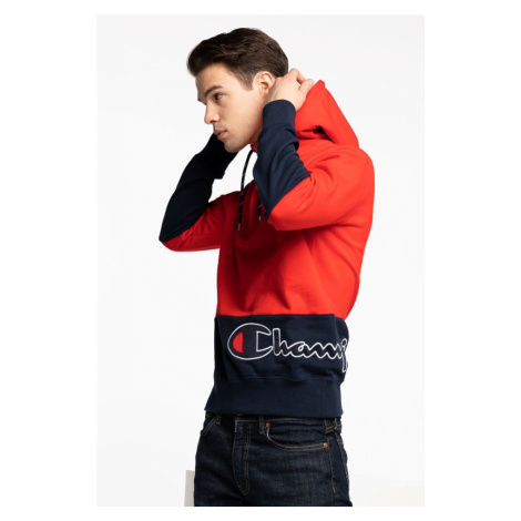 Bluza Champion Half Zip Hooded Sweatshirt 214205-Rs041 Red&navy