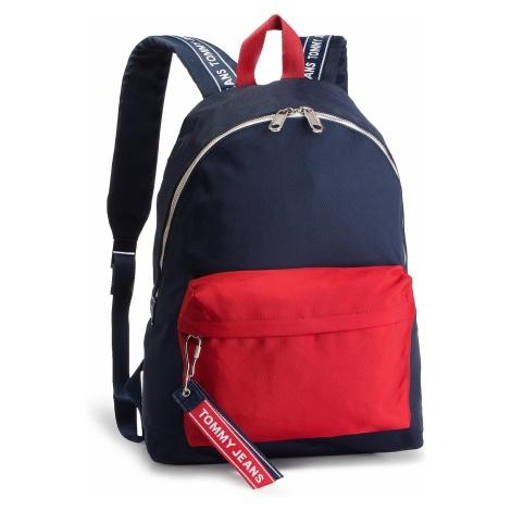 Plecak TOMMY JEANS - Tju Logo Tape Backpack AU0AU00491 901 Tommy Hilfiger
