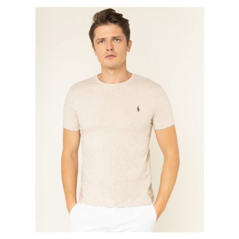 Polo Ralph Lauren T-Shirt 710671438 Beżowy Custom Slim Fit