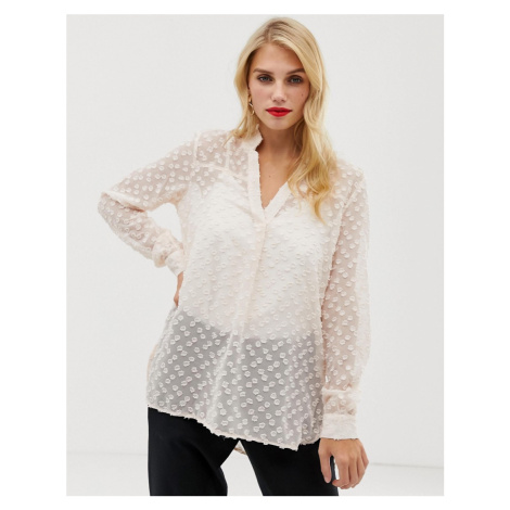 French Connection Lucy sheer blouse