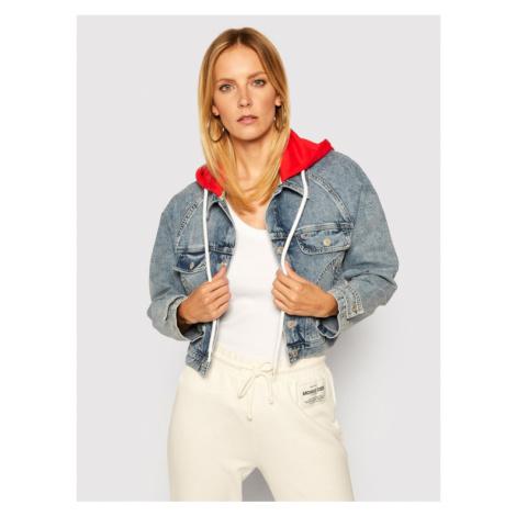 Tommy Jeans Kurtka jeansowa Hoodie Mmbrg DW0DW08654 Niebieski Cropped Fit Tommy Hilfiger