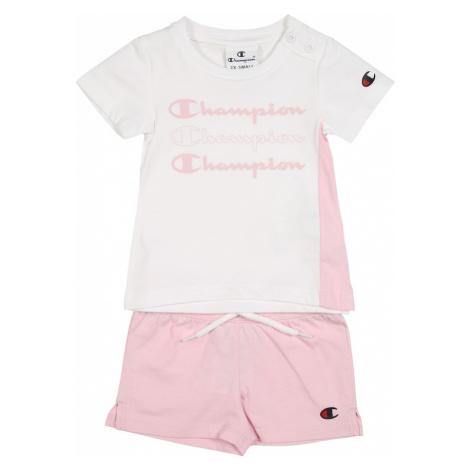 Champion Authentic Athletic Apparel Zestaw biały / różowy