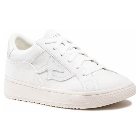 Sneakersy PINKO - Liquirizia Low Top 8 Sneaker PE 21 BLKS1 1H20V4 Y739 White Z14