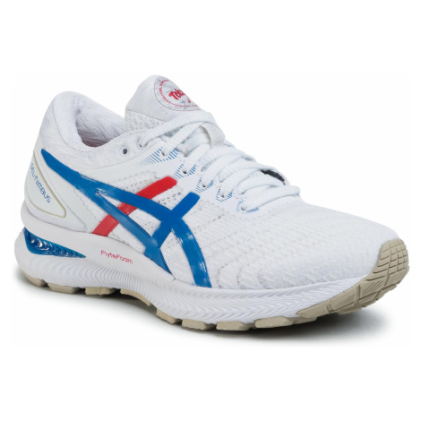 Buty ASICS - Gel-Nimbus 22 1012A665 White/Electric Blue 100
