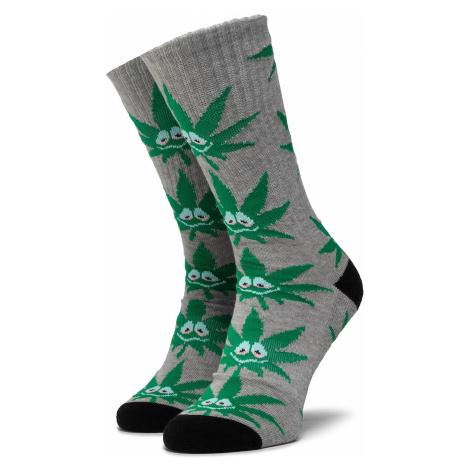 Skarpety Wysokie Unisex HUF - Green Buddy 3Pl Sock SK00446 r.OS Grey Heather